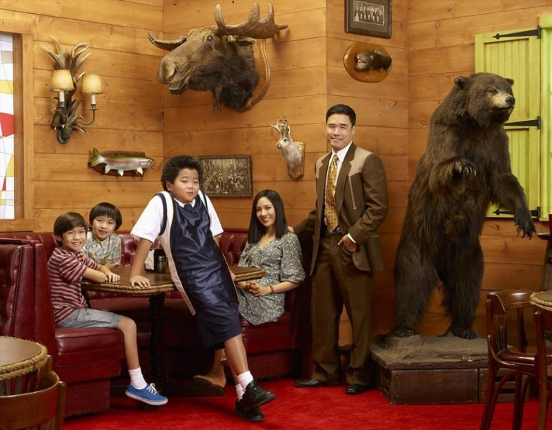 Fresh Off The Boat cast photo at Cattleman's Ranch