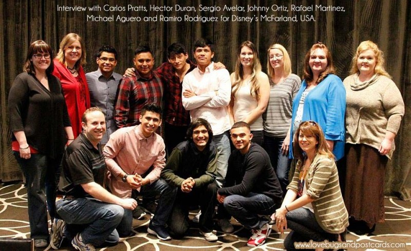 Interview with Carlos Pratts, Hector Duran, Sergio Avelar, Johnny Ortiz, Rafael Martinez,  Michael Aguero and Ramiro Rodriguez for Disney's McFarland, USA.