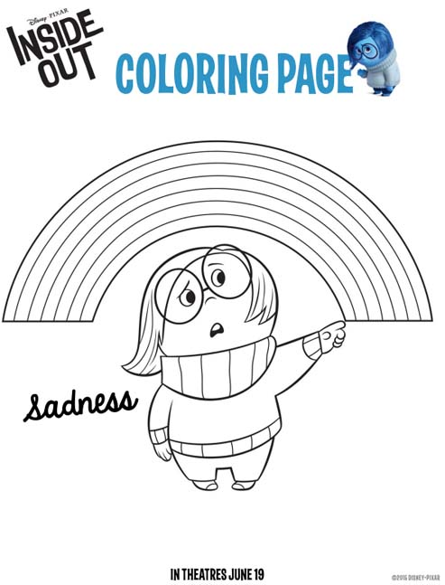 Sadness Inside Out Coloring Pages
