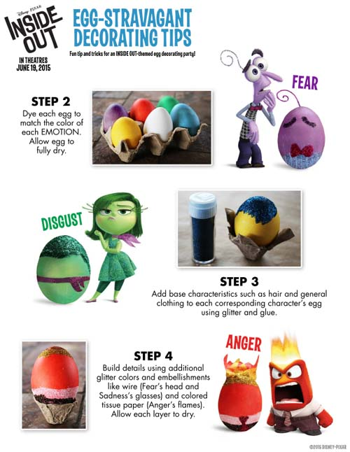 Inside Out Easter Eggs Ideas