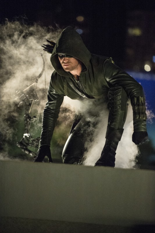 """Arrow -- """"The Calm"""" -- Image AR301b_0322b -- Pictured: Stephen Amell as The Arrow -- Photo: Cate Cameron/The CW -- © 2014 The CW Network, LLC. All Rights Reserved."""