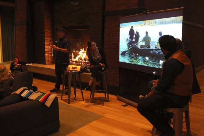 Campfire chat with Peter Sohn: The Good Dinosaur Research Trips #GoodDinoEvent