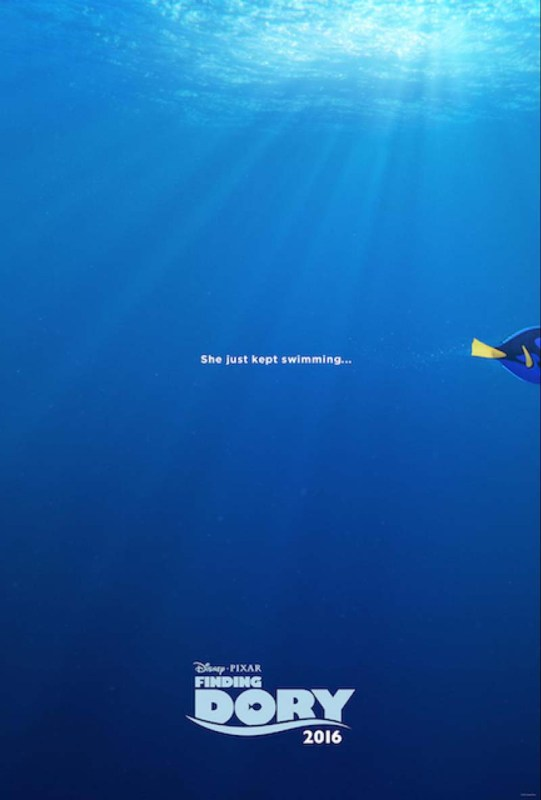 """""""Finding Dory"""" swims into theaters June 17, 2016."""