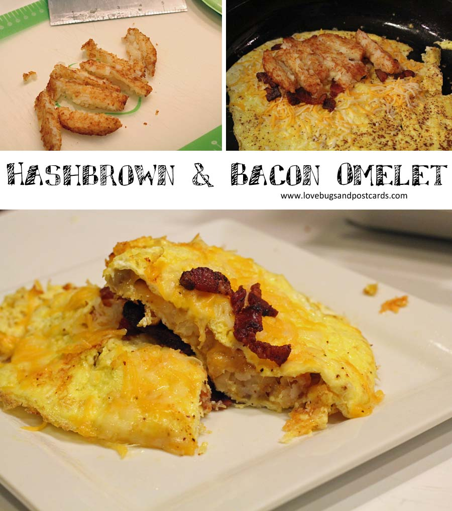 Hashbrown & Bacon Omelet