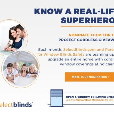 SelectBlinds.com #GoCordless Movement + Enter to win new blinds for your home!