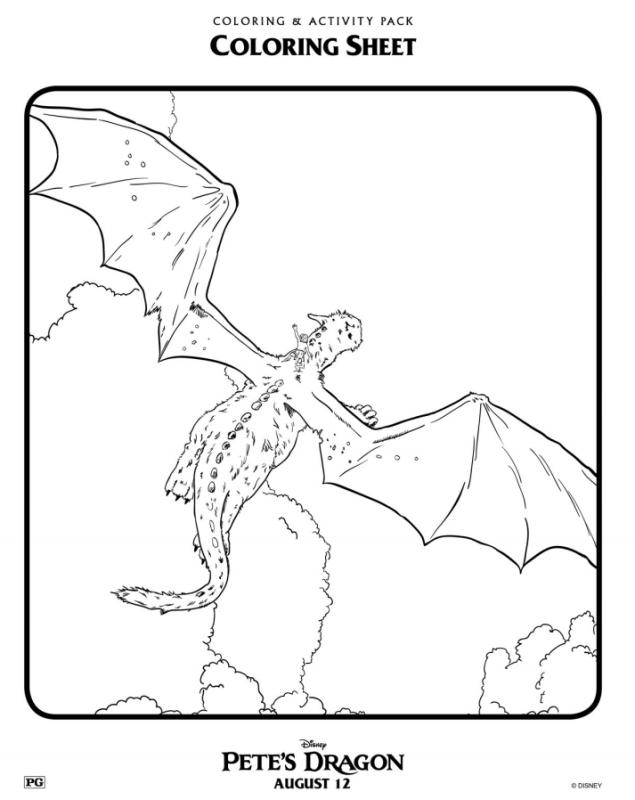 Pete's Dragon Coloring Sheets