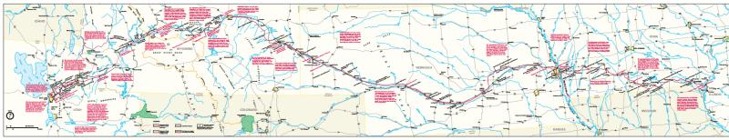 Pony Express Map