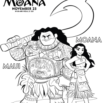 Disney's MOANA Coloring Pages    #Moana