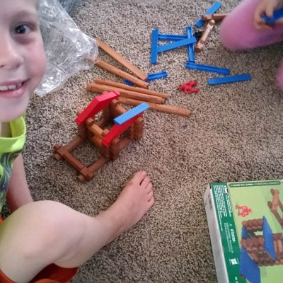 The Original Lincoln Logs Forge Mill Cabin by K'NEX