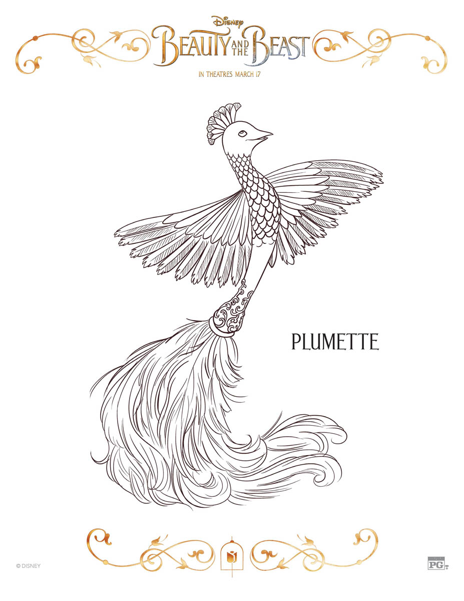 Plumette Coloring Page