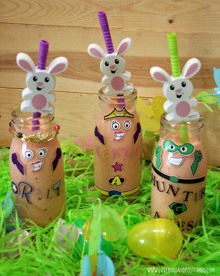 DIY Easter Jars + Pineapple Strawberry Smoothie Recipe