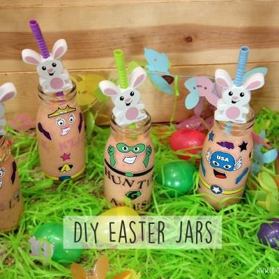 DIY Easter Jars + Pineapple Strawberry Smoothie Recipe