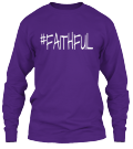 #Faithful Long Sleeve in Purple(Front)