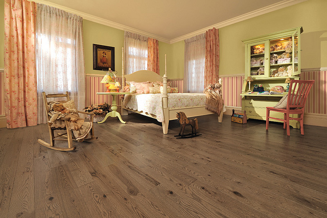 laminate flooring in a nursery