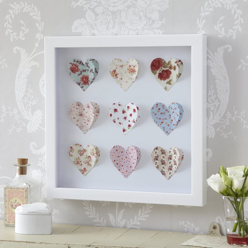box framed paper art picture