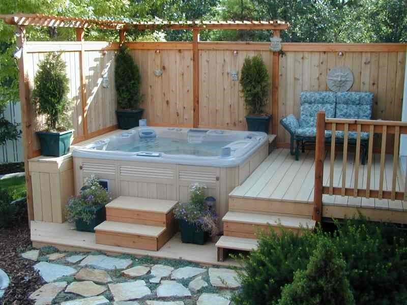 Incorporating a Hot Tub into a Small but Luxurious Space ... on Outdoor Living Spa  id=56409