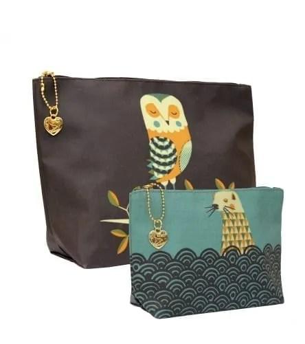 Owl & Otter Washbag set