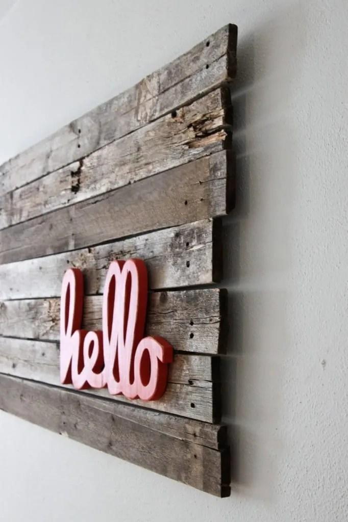 wall pallet ideas