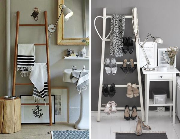 Shoe ladder racks