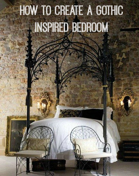 How to create a gothic bedroom & How to Create a Gothic Style Bedroom - Love Chic Living