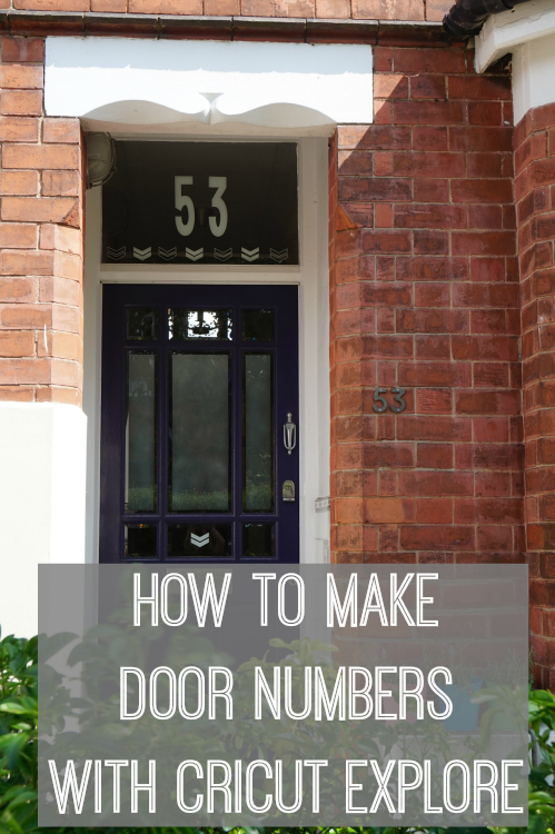 How to make door numbers with the Cricut Explore