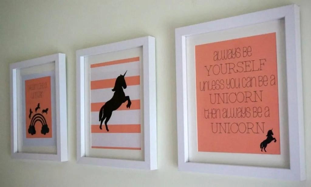 Wall art unicorns