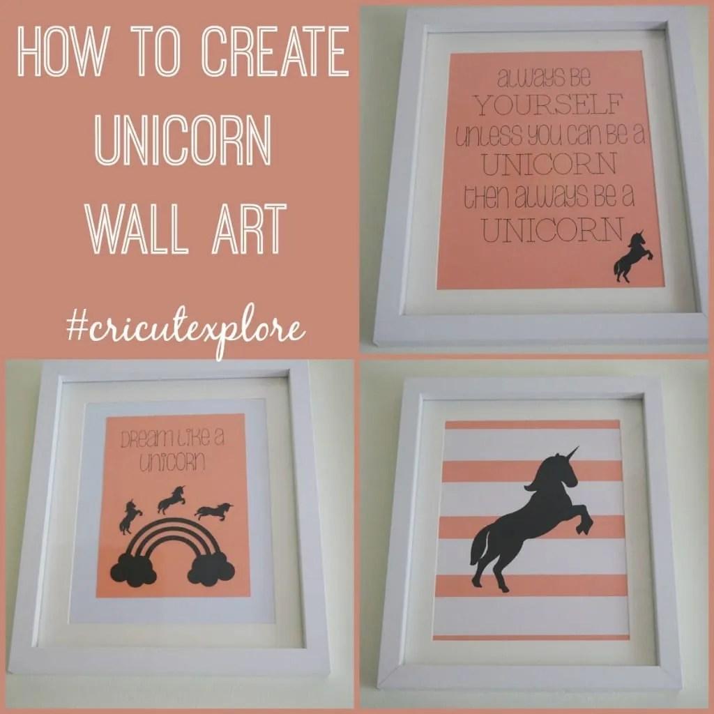 how to create unicorn wall art