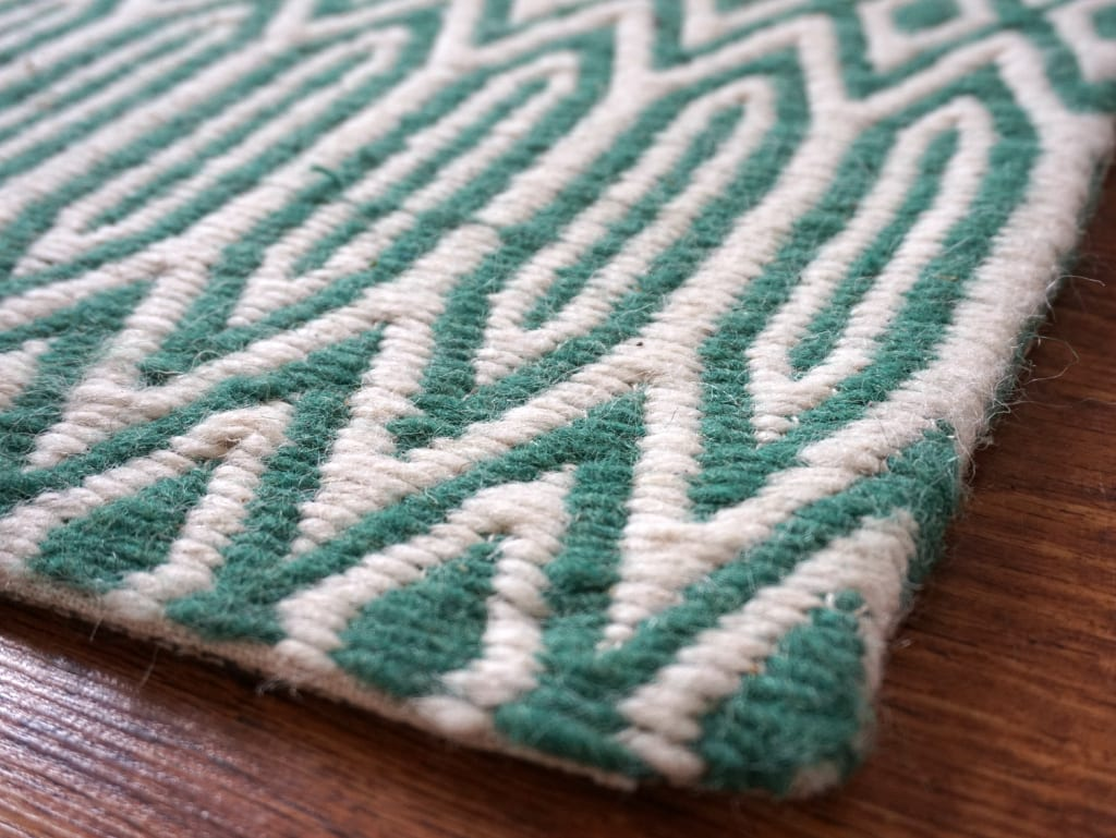 Wool rug close up
