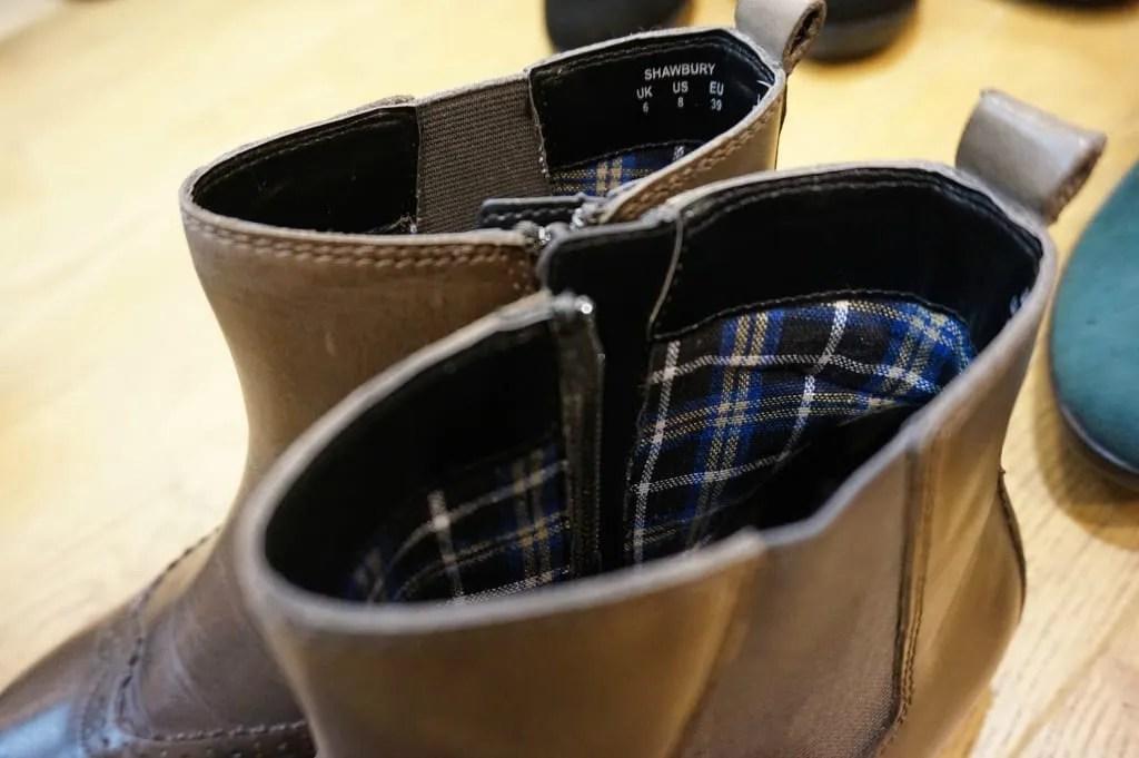 Hotter shoes detailing