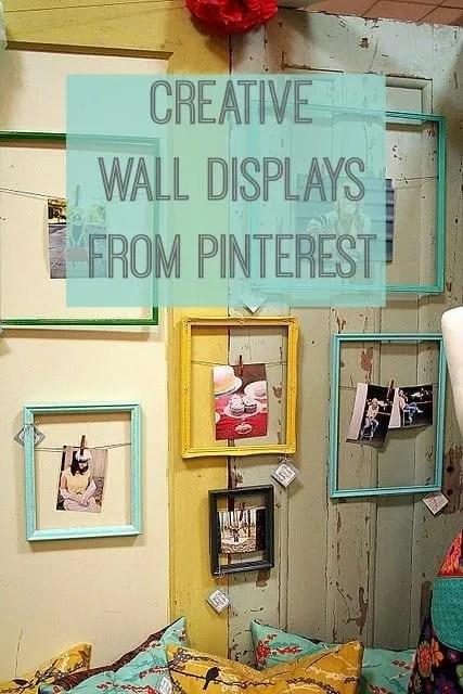 Pinterest: Creative Wall Displays - Love Chic Living on Creative Wall  id=48517