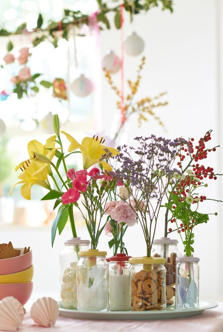 flower jar displays