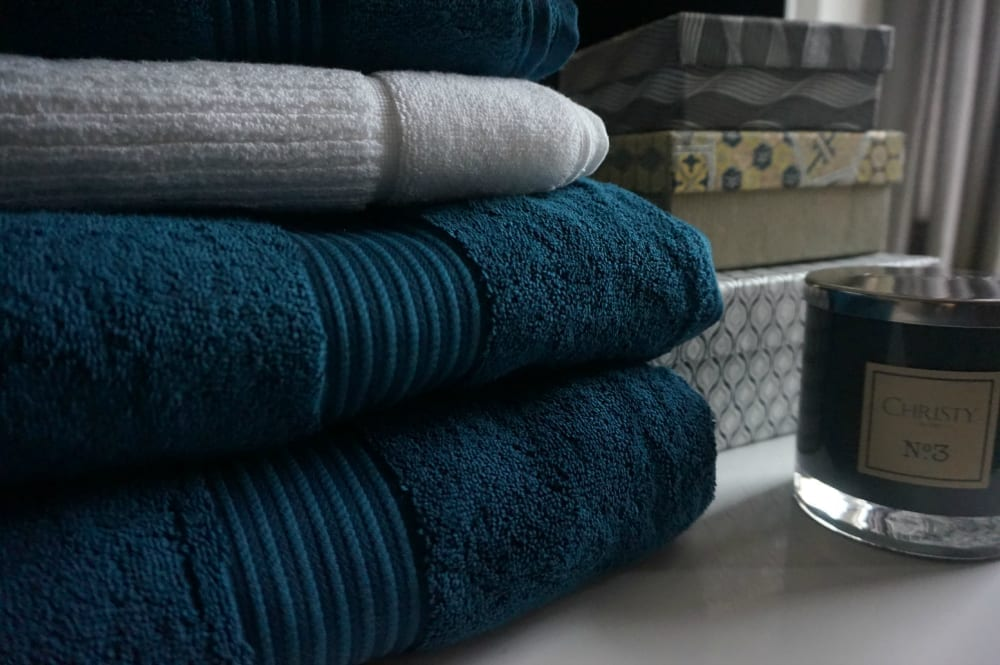 Christy towels in Petrol