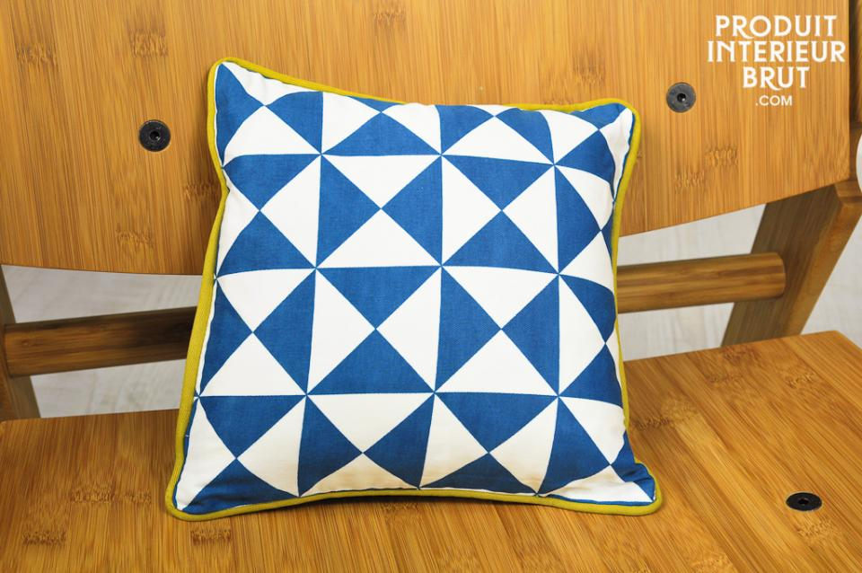 norway small blue cushion