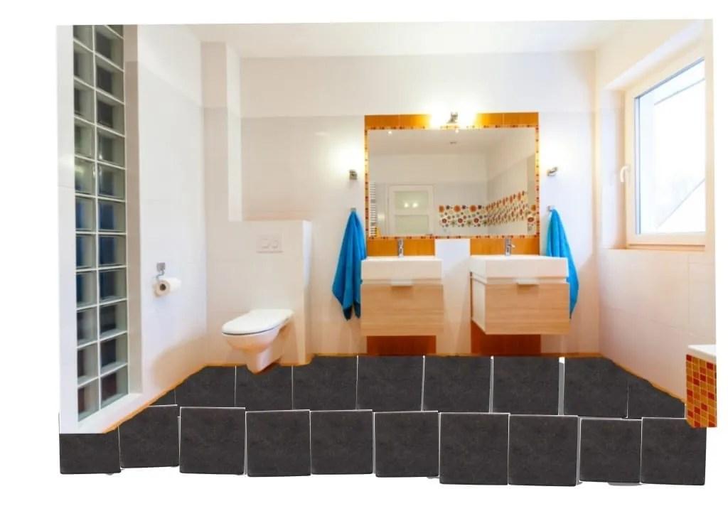 bathroom tiled floor