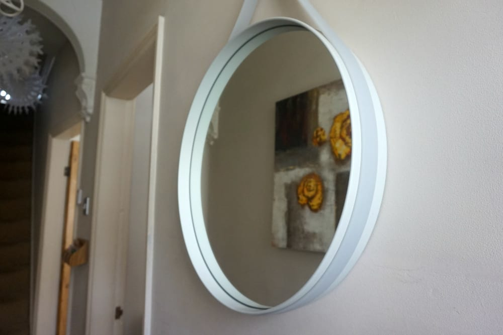 Hay strap mirror from Pink Apple