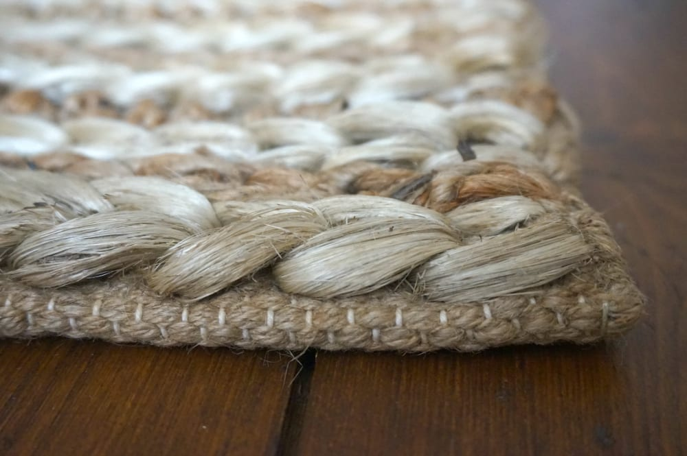Jute runner close up