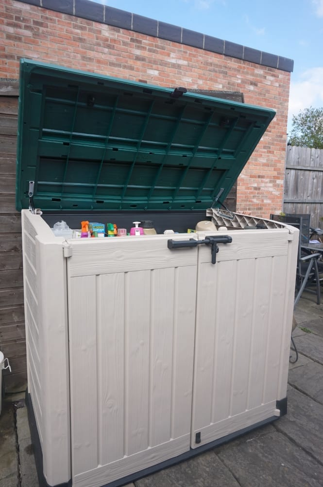 Keter storage with lid open front view