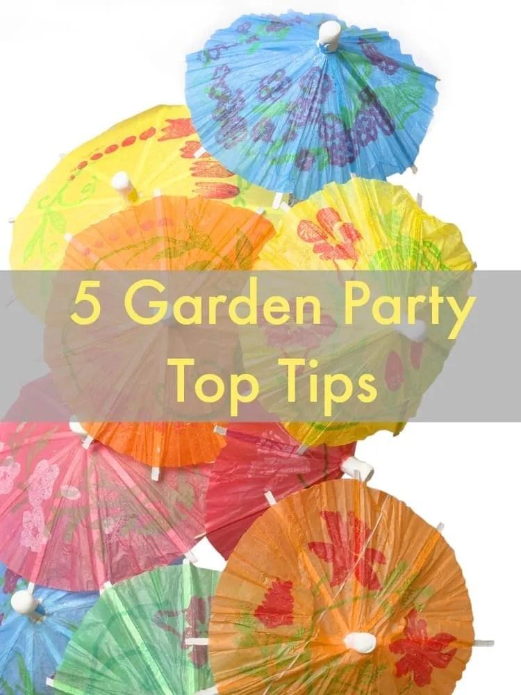 garden party top tips