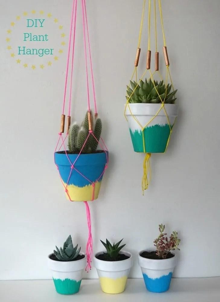 DIY plant hangers