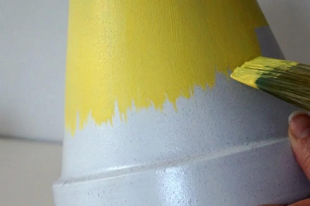 Paint effect plant pot