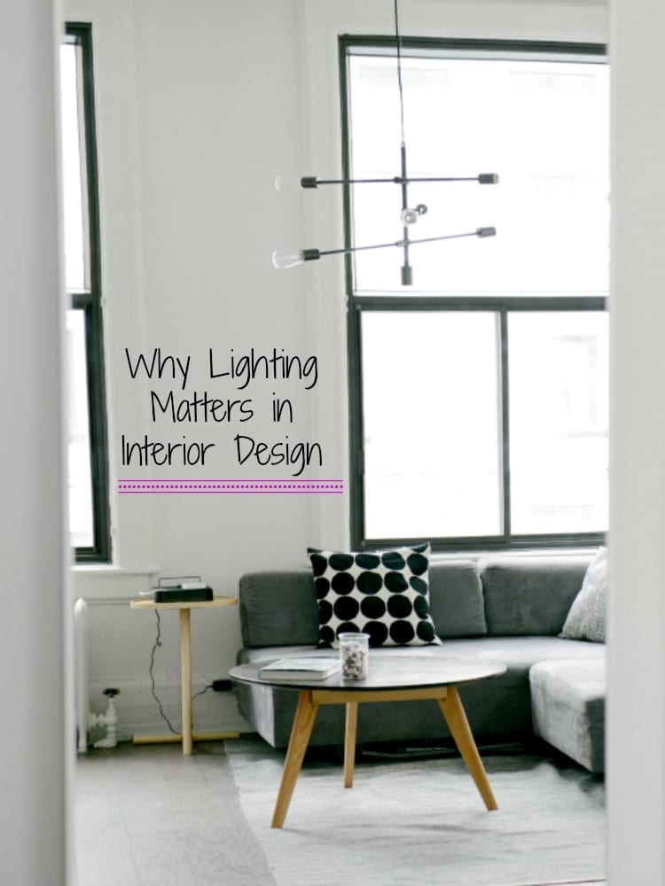 Why lighting matters in interior design