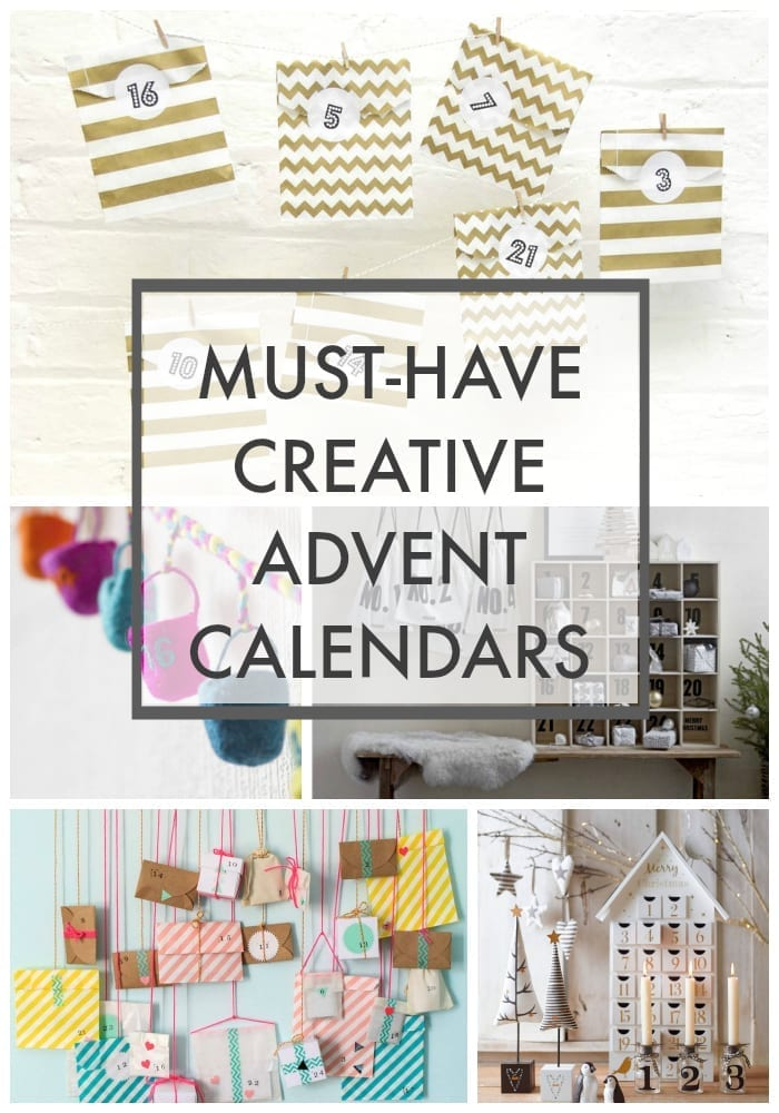 A roundup of stylish, creative advent calendars