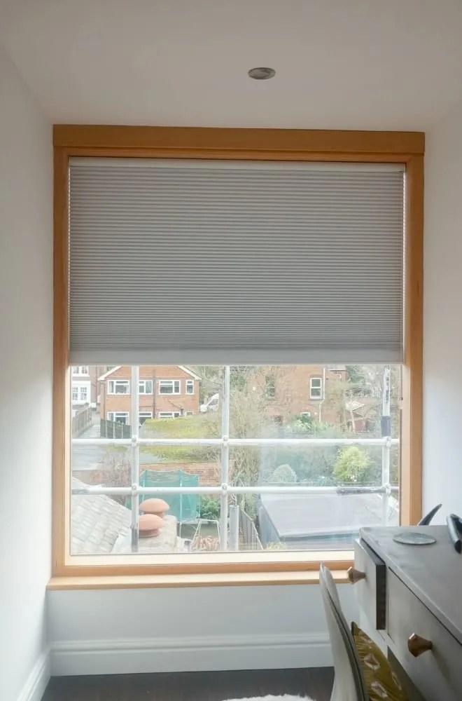 Large window Luxaflex blinds