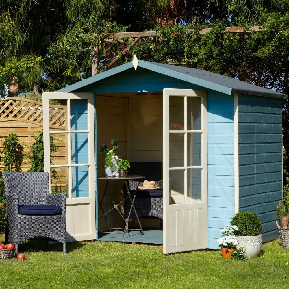Lumley 7X5 Shiplap Timber Summerhouse (Painted) Assembly Required