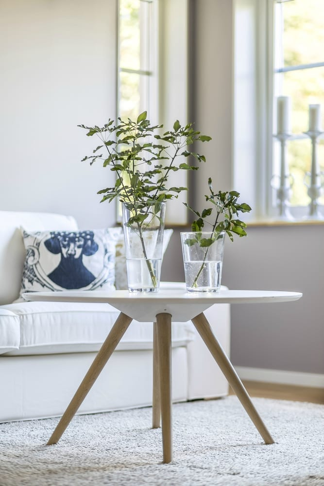 Scandi wooden side table
