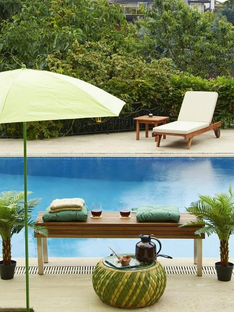 Contemporary pool garden
