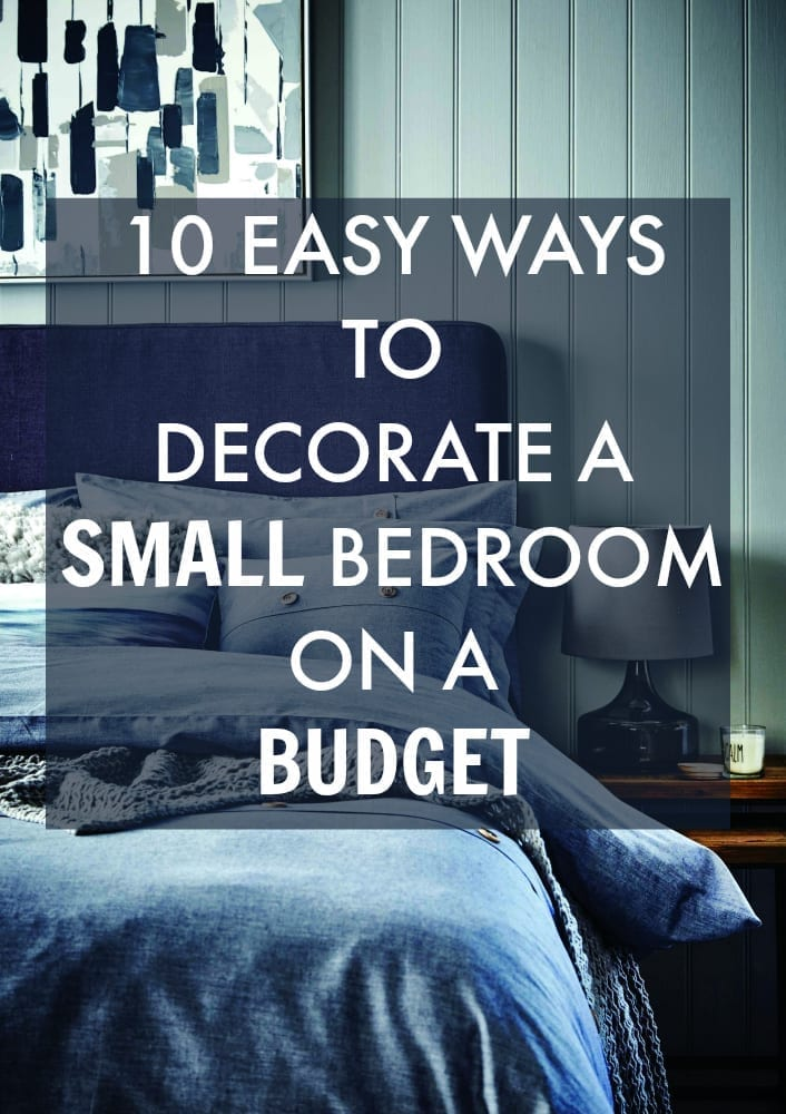 Easy ways to decorate your small bedroom on a budget with lots of ideas that you might not have considered before. Putting them all in one place will help you design the interior, without spending a lot of time or money on finding the right decorating solution. Make the most of the space you have and create a clutter free bedroom sanctuary you know you deserve. Click through to find out more.