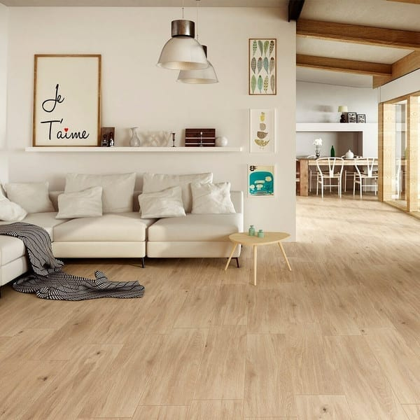 Floor tiles have come a long way and can now be found in many different styles and designs to suit our homes. Wood effect floor tiles are increasingly popular and continue to be easy to maintain, simple to clean and very durable. Click through for more ideas on using beautiful floor tiles in your home.