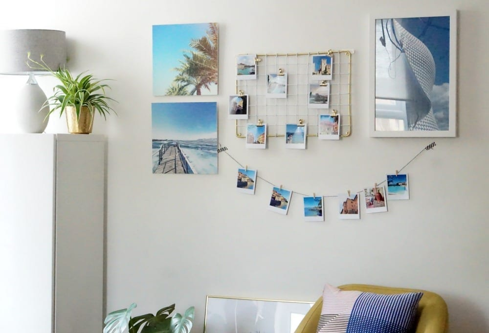 How to create a wall collage with photographs love chic - How to make a living wall ...