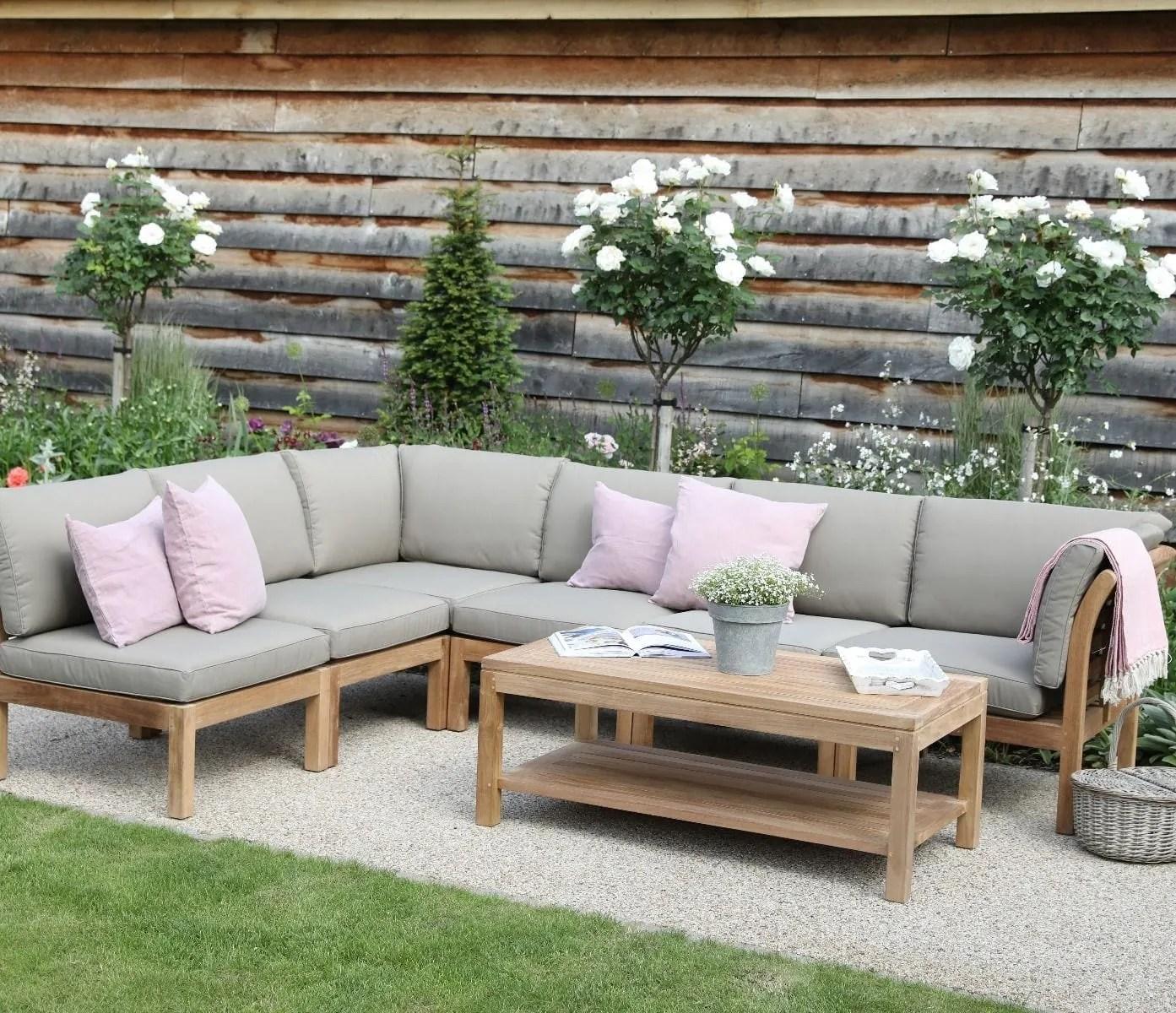 grey corner garden sofa